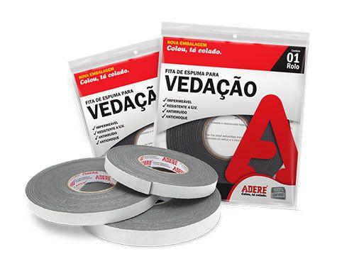 FITA ADESIVA DE ESPUMA P/VEDACAO - ADERE  - RANOVA - A maior variedade de itens MRO