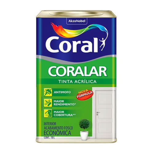 TINTA ACRILICA 18L CORALAR - CORAL