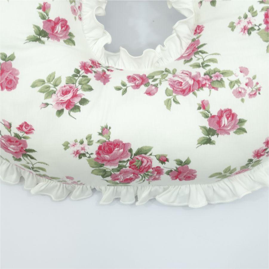 Almofada de amamentar floral rosa