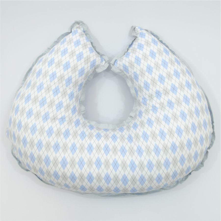 Almofada de amamentar Losango azul claro