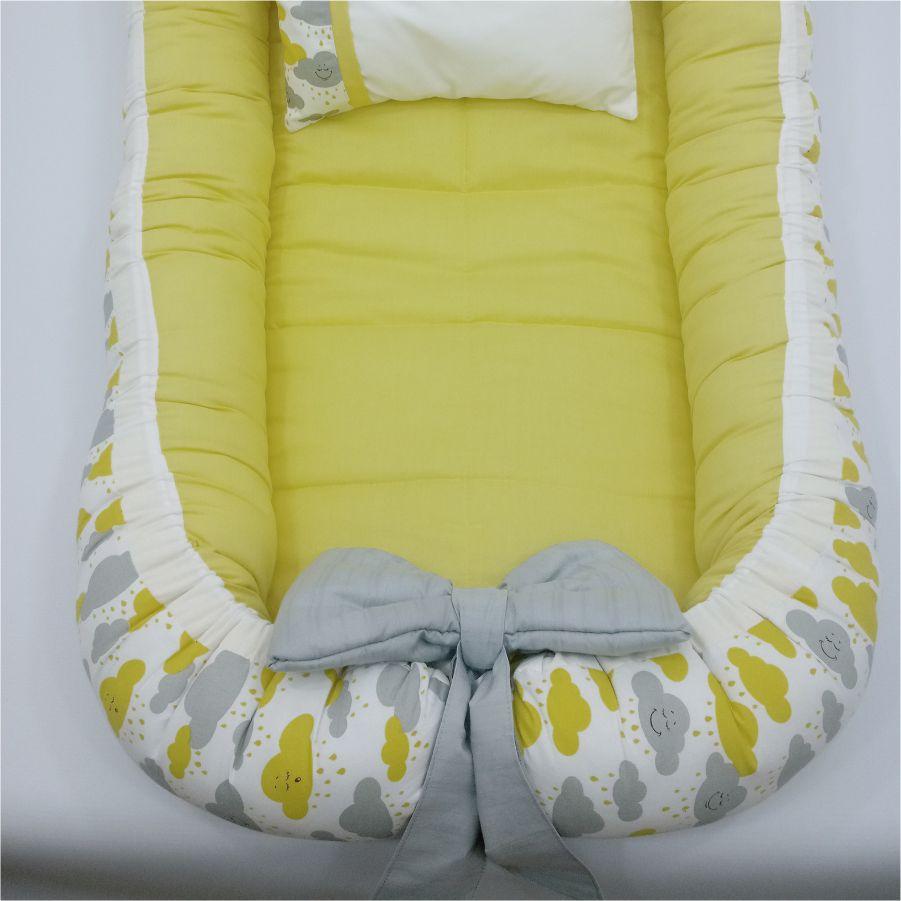 Ninho Redutor de Berço Amarelo Nuvem