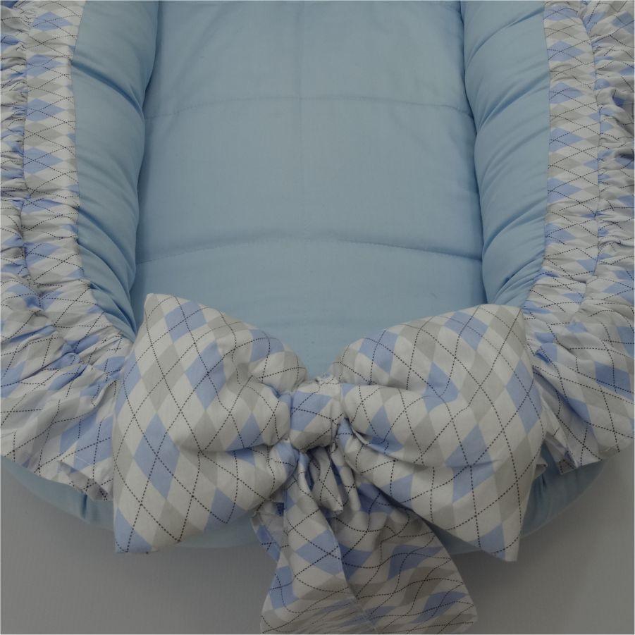 Ninho Redutor de Berço Azul Claro Losango