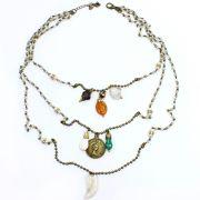 Bijuteria - colar feminino longo correntes e pingentes - 1170