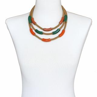 Colar Feminino |  Curto, ABS, Resinas, Zamac | Bijuteria Fina |CamargoMarkiori | CX-8330
