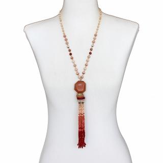 Colar Feminino |  Logo em Cristais Importados, ABS, Resinas, | Bijuteria Fina |CamargoMarkiori | CX-8425