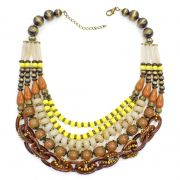 Colar feminino max, elos, resinas e cristais - 5954