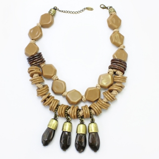 Colar Feminino |  Resinas, ABS e  Zamac | Bijuteria Fina |CamargoMarkiori | CX-8166