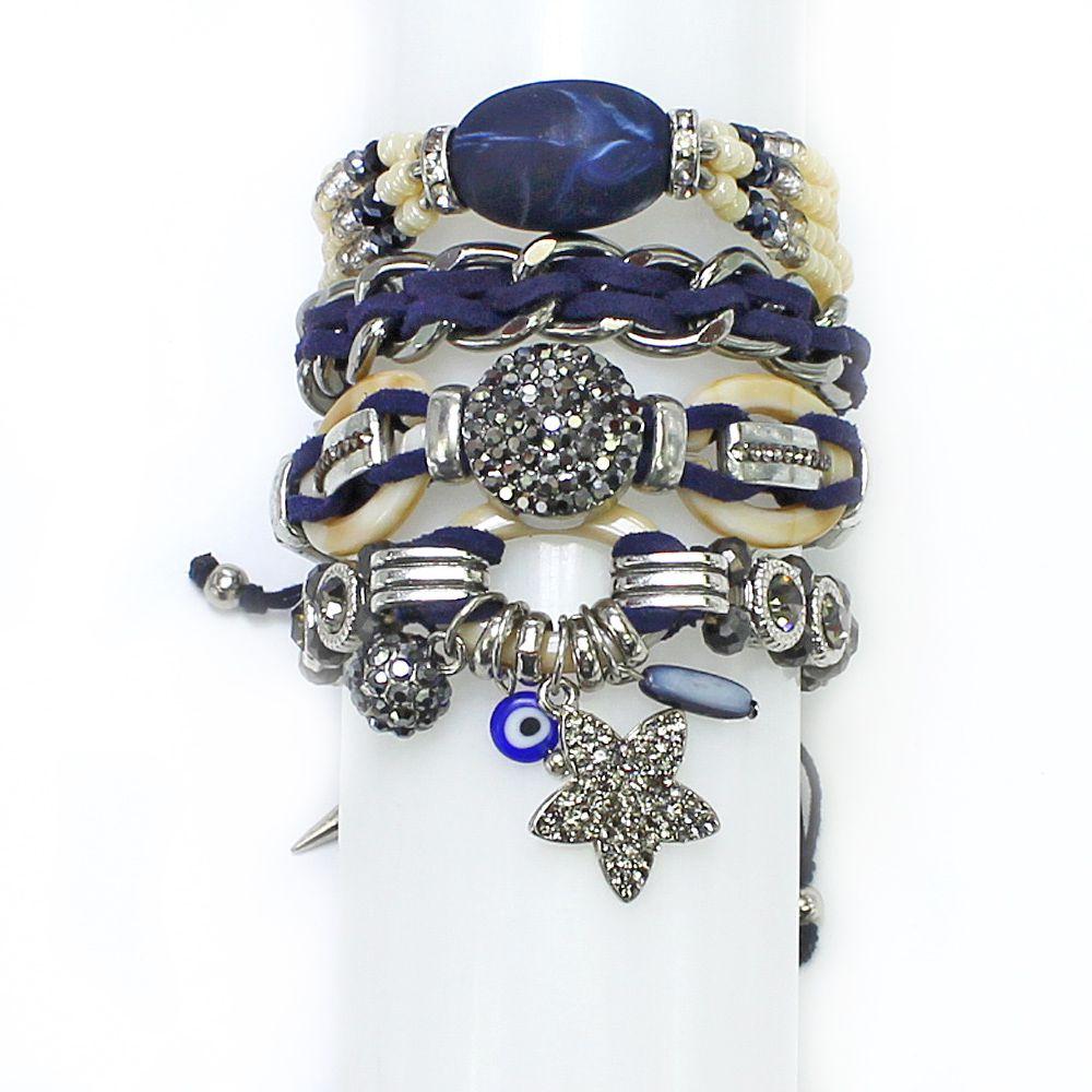 Bijuteria Feminina | Azul Várias Voltas | CamargoMarkiri | Bijuterias Fina | PX-0074