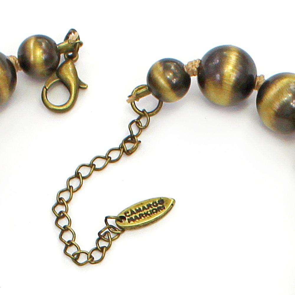 Colar feminino curto, couros sintéticos, resinas, cristais - bijuterias - 2839