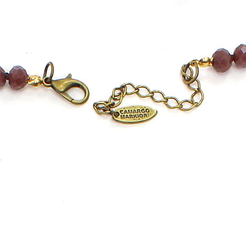 Colar feminino curto, cristais e pingentes, bijuterias - 5930