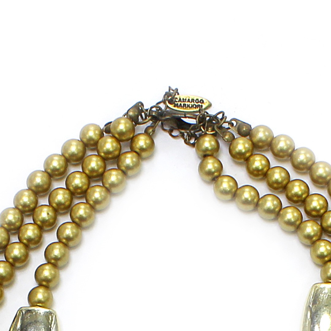 Colar Feminino | Dourado, Resinas, ABS | Bijuteria Fina CamargoMArkiori | CX1599
