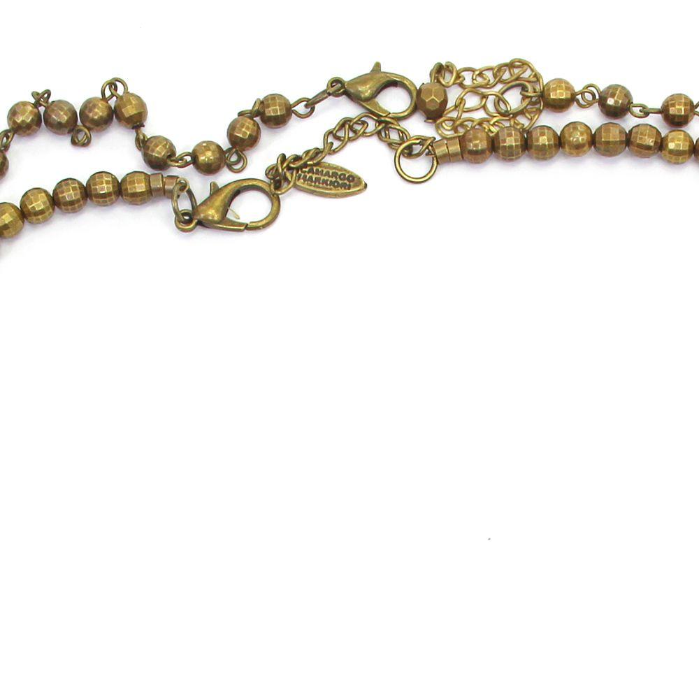 Colar feminino longo, cristais, pedras e pingentes -  bijuteria - 8634