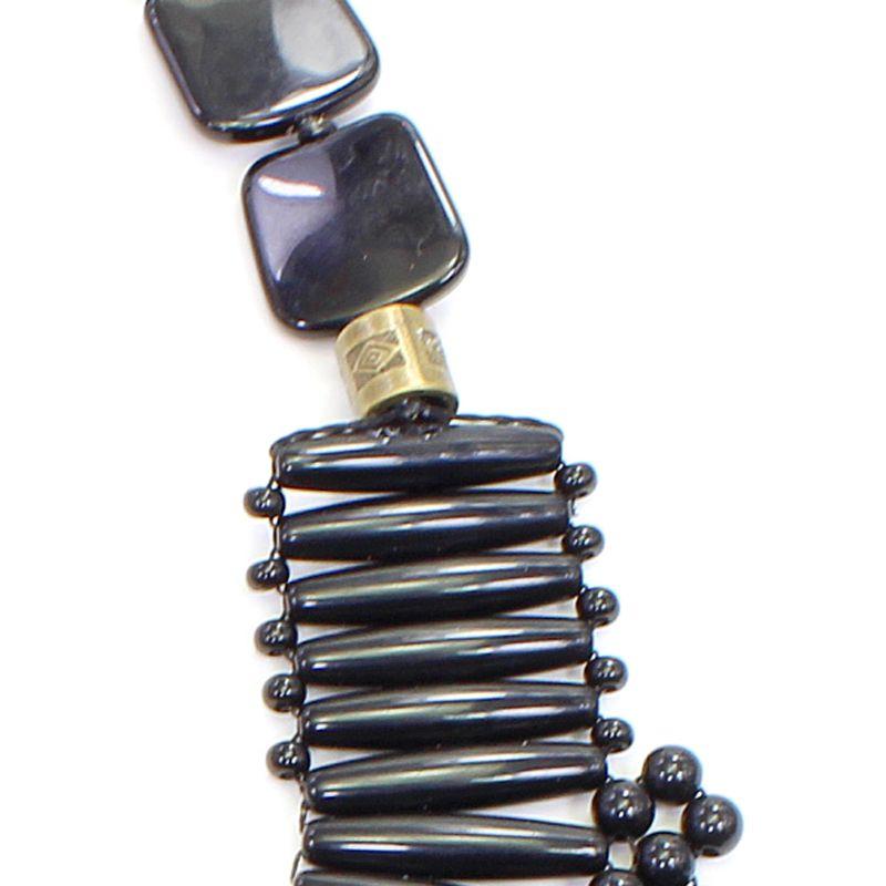 Colar feminino max preto trançado - bijuterias - 5708