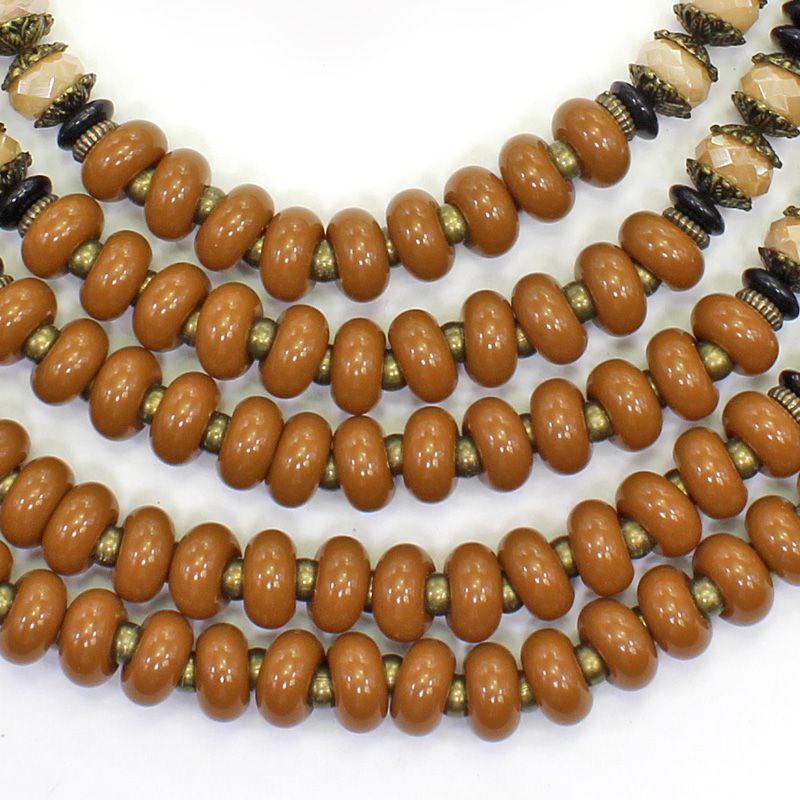 Colar feminino max varias voltas - bijuterias - 6275