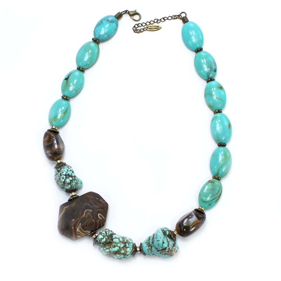 Colar Feminino pedras | Bijuteria Feminina | CX-2249