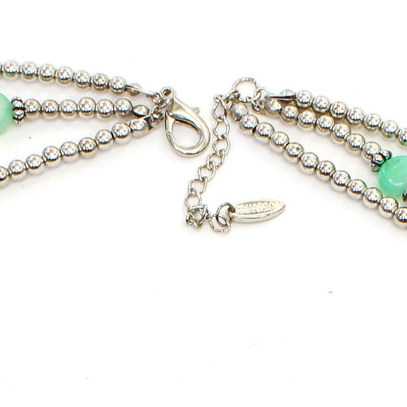 colar feminino, resinas, cristais, metais e cascalho - Bijuterias - 7568