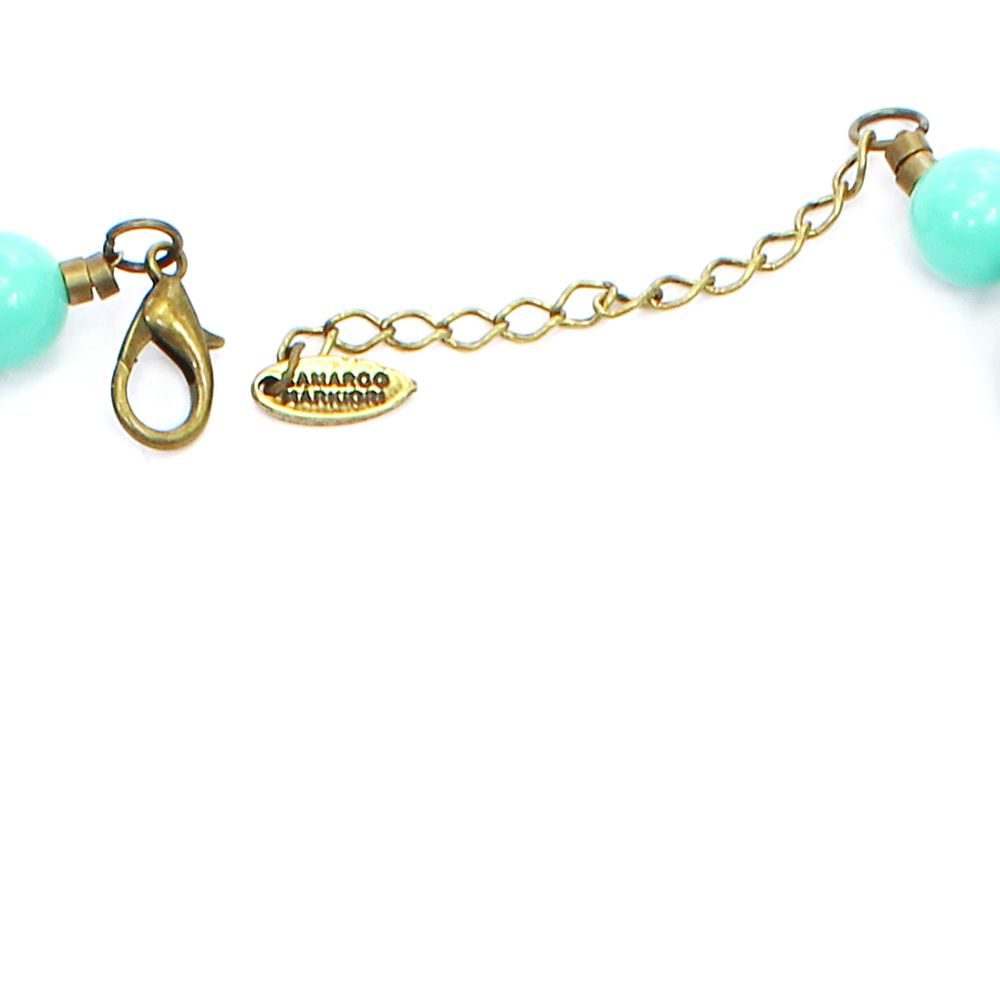 Colar feminino resinas e cruz - bijuteria - 7756