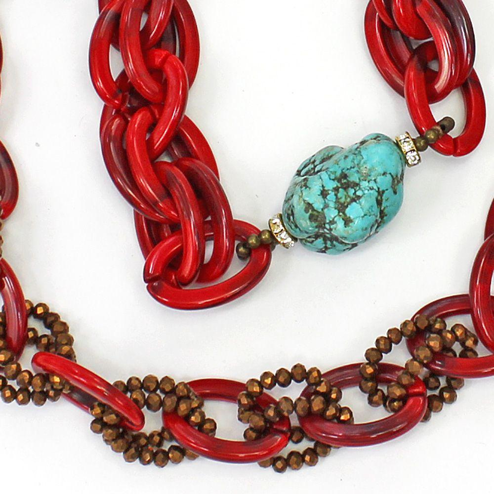 Colar Feminino Vermelho | CamargoMarkiori | Bijuteria Fina | CX-9762