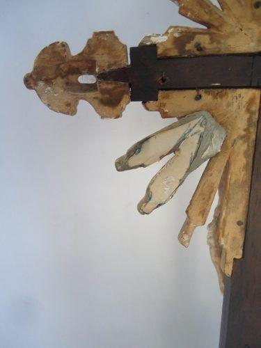 Antigo Crucifixo Cristo Em Madeira 43 Cm De Altura