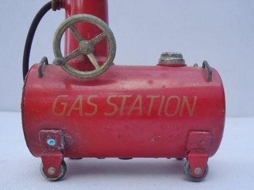 Antigo Isqueiro Gas Station Para Colecionadores