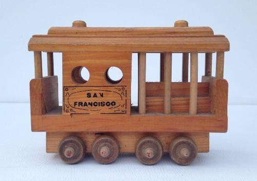 Escultura Madeira Bondinho San Francisco