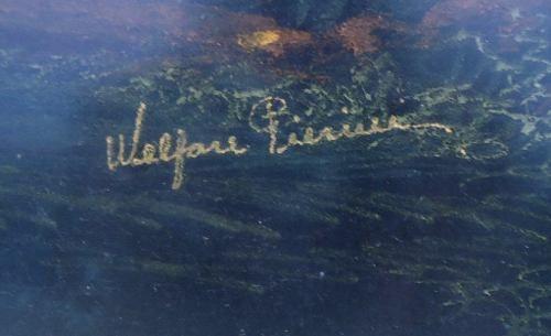 Quadro Assinado Pintura Pastel Com Moldura