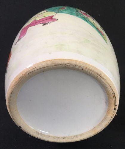 Belissimo Vaso Potiche Porcelana Cenas Orientais