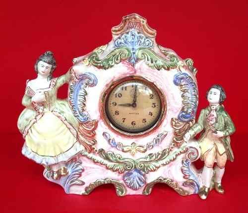 Antigo Relógio Despertador Westclox Faiança Tasca