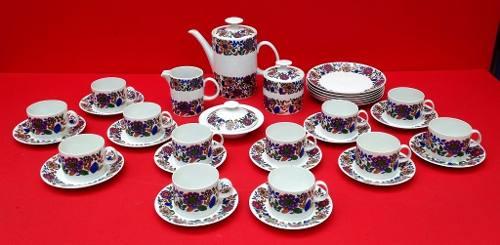 Antigo Conjunto De Chá Porcelana Steatitta