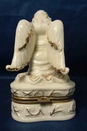 Antigo Enfeite - Escultura Em Porcelana - Porta Joia