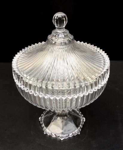 Espetacular Compoteira Em Cristal Europeu Grande