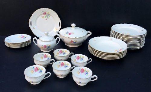 Espetacular Aparelho Jantar Porcelana Alemã Bavaria Antigo