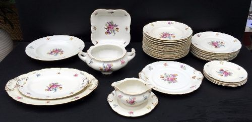 Belissimo Aparelho De Jantar Tcheco Porcelana Pirkenhammer