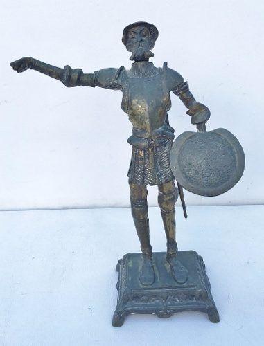 Escultura Antiga Em Bronze Dom Quixote
