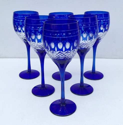Conjunto De Taças Para Vinho Em Cristal Europeu
