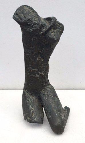 Arte Moderna Escultura Nú Feminino 35cm Altura