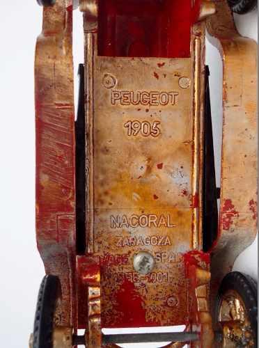 Carrinho Peugeout 1905 Nacoral Zaragoza Ref 1001
