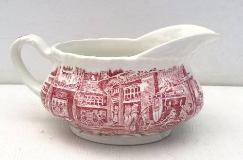 Antiga Molheira Porcelana Inglesa Vermelha