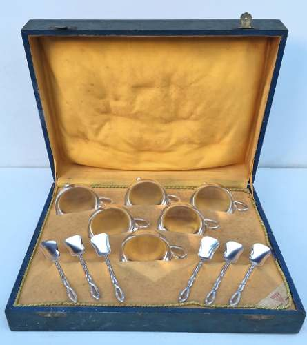 Antigo Conjunto Taças De Sorvete Prata 90 Eberle Na Caixa