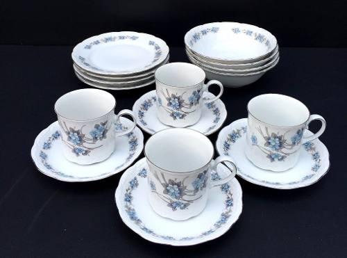 Belissimo Conjunto De Chá E Bolo Porcelana Bavaria 4 Pessoas