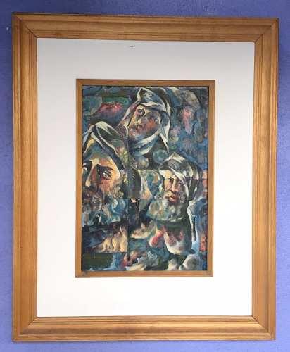 Brum Izrael Szajnbrum  Óleo Sobre Eucatéx 83x68 cm