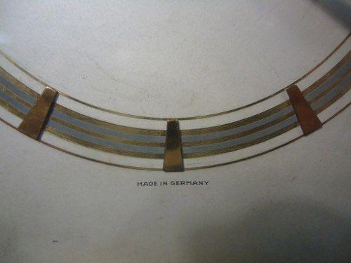 Antigo Relogio De Mesa Mauthe Alemao Com Detalhes Em Ouro