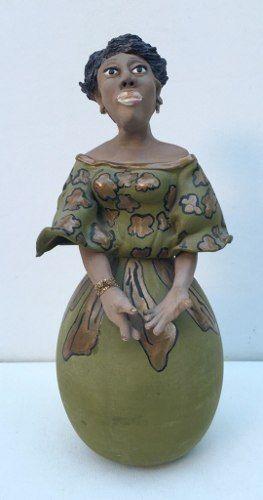 Arte Popular Escultura Em Gesso 40cm De Altura