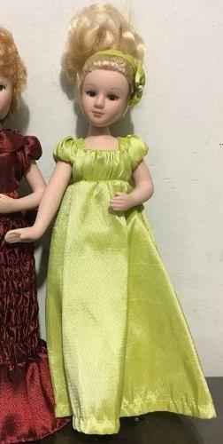 Belissima Boneca De Louça Dama Vestido Verde