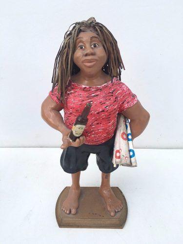 Arte Popular Escultura Em Gesso 35cm De Altura