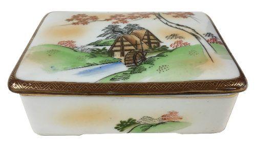 Linda Caixa Porcelana Japonesa