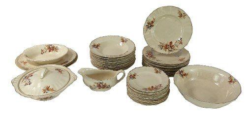 Antigo Aparelho De Jantar Creme Porcelana J & G Meakin