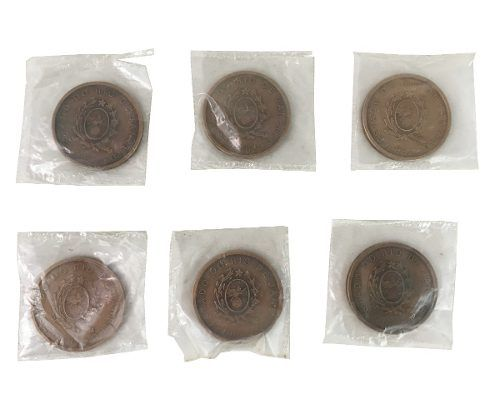 Antiga Medalha Governo Chagas Freitas Lacrada 48mm (unidade)