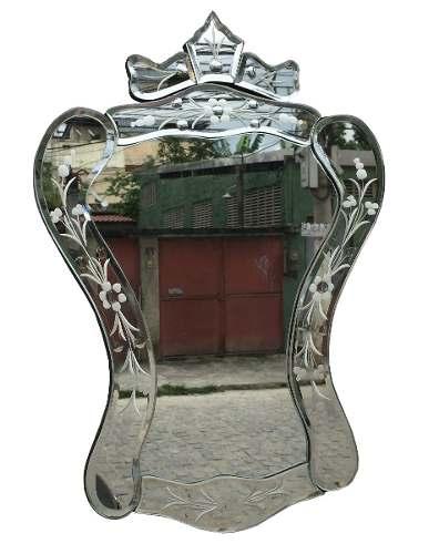 Espelho Vintage Veneziano Pequeno Bisotado 45x32cm