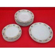 Antigo Conjunto De Pratos Porcelana Real